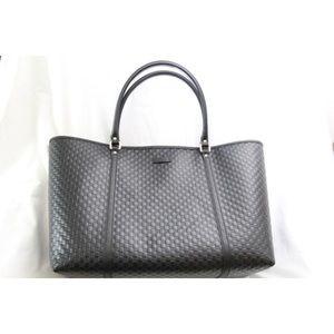f7f75f934c1 Gucci Bags - Black Leather Micro GG Guccissima Joy Large Tote